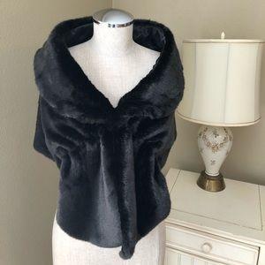 Black Fur Cape